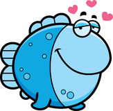 Cartoon Fish in Love Stock Images
