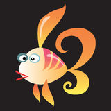 Cartoon fish on a neutral background. Cartoon colorful coral fish on a neutral background royalty free illustration