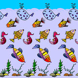 Cartoon fish pattern Stock Image