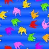 Cartoon Fish. Seamless Pattern Cartoon Fish Background Royalty Free Stock Photo