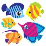 Cartoon Fish Set Stock Photography