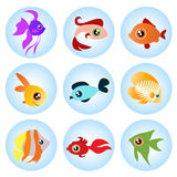 Cartoon Fish Set Royalty Free Stock Photography