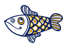Cartoon fish smile Stock Photography