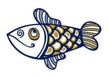 Cartoon fish smile. Cartoon style of fish smile Stock Photography