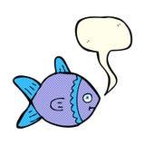 Cartoon fish with speech bubble Stock Image