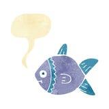Cartoon fish with speech bubble Royalty Free Stock Image