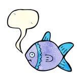 Cartoon fish with speech bubble Royalty Free Stock Photo