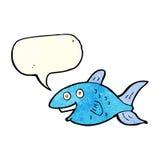 Cartoon fish with speech bubble Royalty Free Stock Photos
