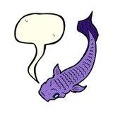 Cartoon fish with speech bubble Royalty Free Stock Photography