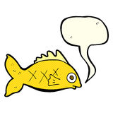 Cartoon fish with speech bubble Royalty Free Stock Image