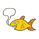Cartoon fish with speech bubble Royalty Free Stock Photography