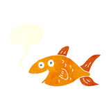 Cartoon fish with speech bubble Stock Images