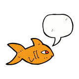 Cartoon fish with speech bubble Stock Image