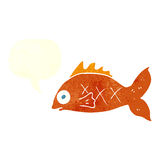 Cartoon fish with speech bubble Royalty Free Stock Photo