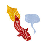 Cartoon fish with speech bubble Royalty Free Stock Images
