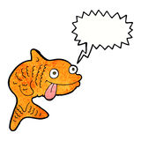 Cartoon fish with speech bubble Stock Photos