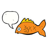 Cartoon fish with speech bubble Stock Photo