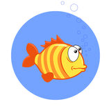 Cartoon fish. Vector clip art illustration Royalty Free Stock Photo