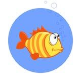 Cartoon fish. Vector clip art illustration.  Royalty Free Stock Photo
