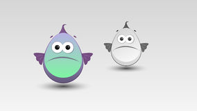 Cartoon Fish in Vector Royalty Free Stock Image