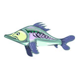 Cartoon fish. vector illustration. Drawing by hand. Cartoon fish. vector illustration. Drawing by hand Stock Photo