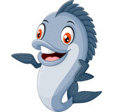 Cartoon fish waving. Illustration of Cartoon fish waving Royalty Free Stock Photo