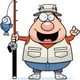 Cartoon Fisherman Idea. A cartoon illustration of a fisherman with an idea Royalty Free Stock Image