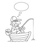 Cartoon Fisherman Royalty Free Stock Photo