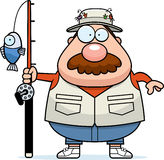 Cartoon Fisherman Mustache. A cartoon illustration of a fisherman with a mustache Stock Images