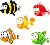 Cartoon fishes Royalty Free Stock Photos
