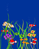 Cartoon fishes. Colorful cartoon fishes vector, with space for your text Vector Illustration