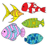 Cartoon fishes Royalty Free Stock Photos