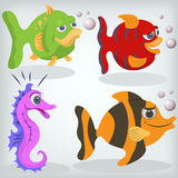 Cartoon fishes illustration Stock Photography