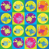 Cartoon fishes seamless pattern Royalty Free Stock Photography