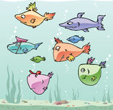 Cartoon fishes set 2 Stock Photo