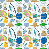 Cartoon Fishing seamless pattern Stock Image
