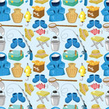 Cartoon Fishing seamless pattern Stock Images