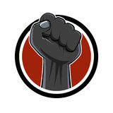 Cartoon fist sign Royalty Free Stock Images