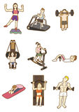 Cartoon Fitness icon Stock Photos