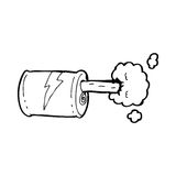 Cartoon fizzy drink can Royalty Free Stock Photography