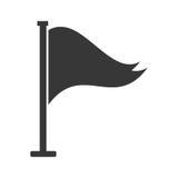 Cartoon flag lifeguard alert symbol shadow. Vector illustration eps 10 stock illustration