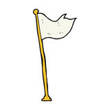 Cartoon flag on pole Royalty Free Stock Photo