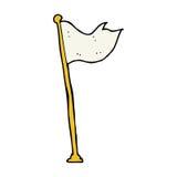 Cartoon flag on pole Royalty Free Stock Photo