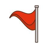 Cartoon flag warning danger alert. Vector illustration eps 10 vector illustration