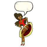 cartoon flamenco dancer with speech bubble Royalty Free Stock Images