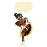 cartoon flamenco dancer with speech bubble Stock Photos