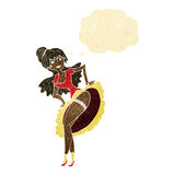 cartoon flamenco dancer with thought bubble Stock Photo