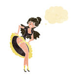 cartoon flamenco dancer with thought bubble Royalty Free Stock Photography