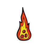Cartoon flames Royalty Free Stock Photography