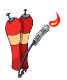 Cartoon Flamethrower. Stock Images